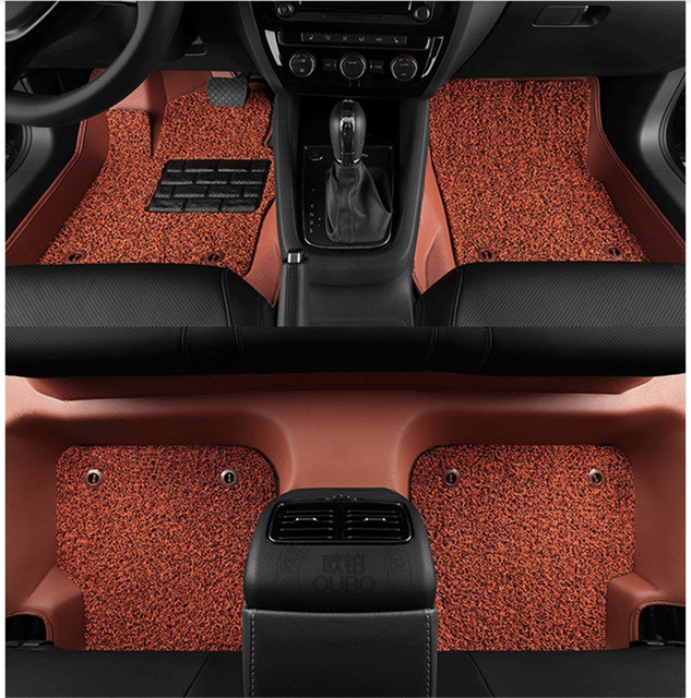 Auto Floor Mats For Honda Fit Jazz 2017 2016 Foot Carpets Mat High Quality New Water Proof Leather Wire Coil 2 Layer
