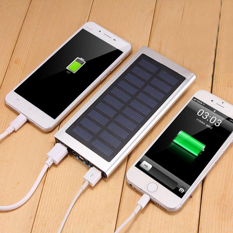20000mahパワーバンク外部バッテリー急速充電iPhone 6 7用デュアルUSB Powerbank携帯電話充電器バッテリー充電器ケースUSBバッテリーバンク充電器