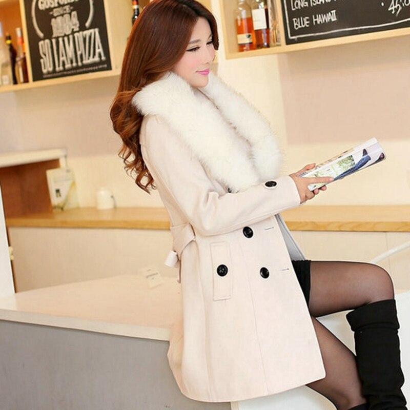 Grande White Solide Moyen 2019 X730 De Manteau Veste Rice Couleur Taille Boutonnage Nouvelle Double red Femmes gray hiver Automne pink Long Slim yellow En khaki Laine black awzqwtRx