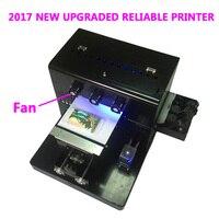 2017 A4 Kleine maat UV Printer LED met emboss effect Golf UV Flatbed Printer voor Telefoon Case, T-shirt, leer, TPU