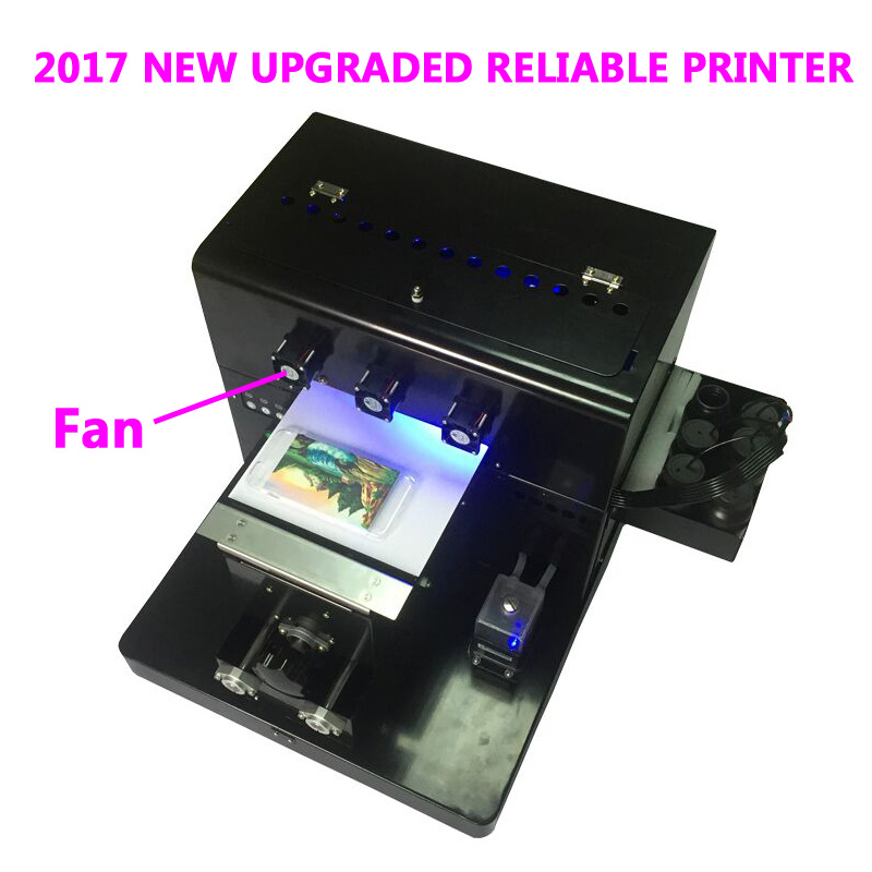 2017 A4 Small size UV Printer LED with emboss effect Golf UV Flatbed Printer for Phone Case, T-shirt, leather,TPU uv printer embossed effect a3 led uv printer uv flatbed printing machine for candle printing