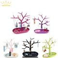 Free Shipping Jewelry Necklace Ring Earrings 5 Colors Bird Tree Stand Display Organizer Holder Rack