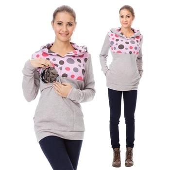 c587d509f84 Thicken lactancia madres lactancia Sudadera con capucha ropa de maternidad  de invierno ropa de lactancia para mujeres embarazadas