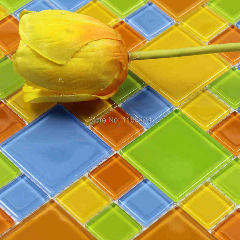 Color Crystal Glass Mosaic Glass Mosaic Tiles Ehm1019 For Kitchen Bathroom Floor Building Materials Collages Backdrop