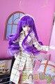 Новый фиолетовый ombre долго французский курчавый парик для 1/8 Kurhn/Monster High куклы с 12-13 см окружность головы