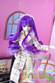Brand new  purple ombre long french curly wig for 1/8 Kurhn/Monster High dolls with 12-13cm head circumference
