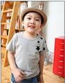 Детская Короткими Рукавами Хлопок Футболки pattern Корейской звезды Детская Одежда Тис