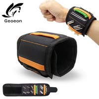 Geoeon Magnetic Wristband Multi-function Portable Tool Bag Electrician Wrist Tool for Holding Screws, Nails, Drill Bits D35