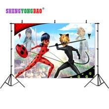 SHENGYONGBAO Vinyl Custom Photography Background Digital  ladybug theme Photography Backdrops SQ-2001 idiot s guides digital photography