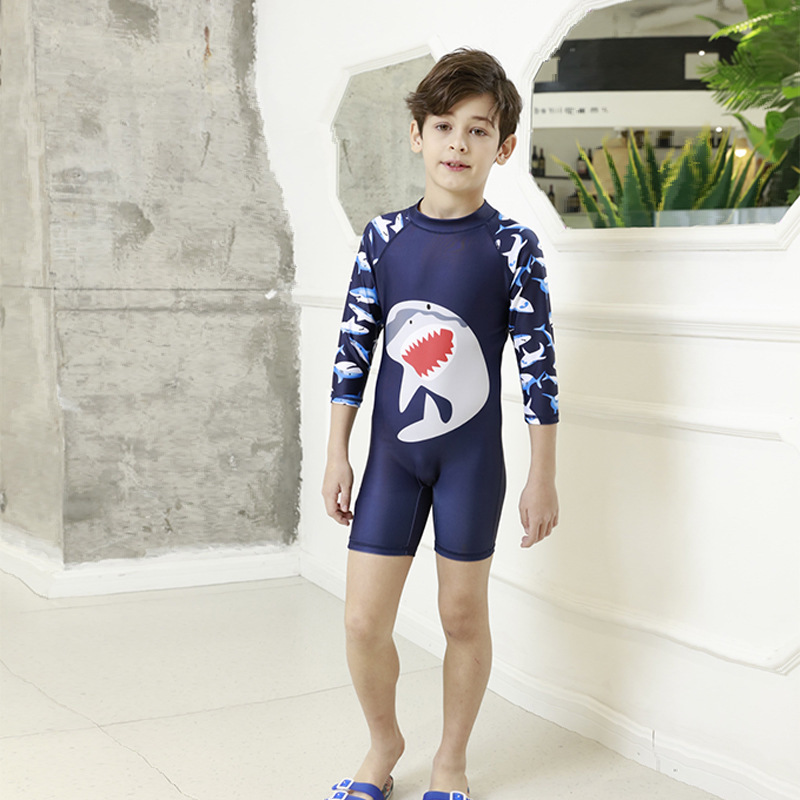 Boy Swimsuit Swimwear Two Pieces Kid Rash Guard Bathing Suit Camouflage Sunsuit 7-16t