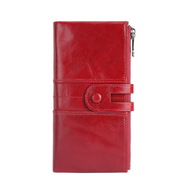 women RFID Genuine leather wallet new fashion candy casual long business female clutch bag phone purse Card & ID Holders wallets
