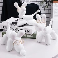 HOT Modern Balloons Dog Statue Fashion Balloon Dog Resin Crafts Sculpture Statues For Home Decoration Creative Gifts R390