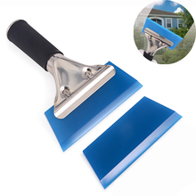 FOSHIO Car Window Tint Tools Handled Rubber Squeegee+Spare Blade Vehicle Water Wiper Cleaning Tool Ice Scraper Auto Tinting