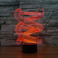 DNA Carga USB Luz da Noite Da Novidade 7 Cores Mudando A Luz Da Noite Para Crianças Adultos Presentes|light foil|light diffuselight wedge book light -