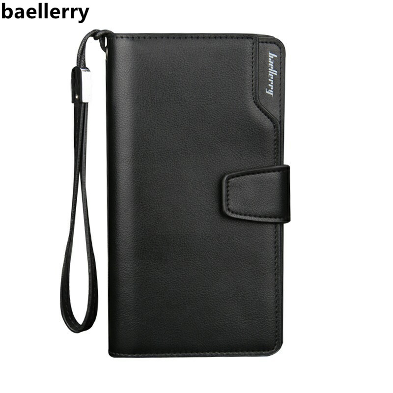 Brand Business Wallets Men's Purse Long Casual Clutch Male Purse Zipper Phone Bag Portfolio Designer Wallet Carteira Masculina