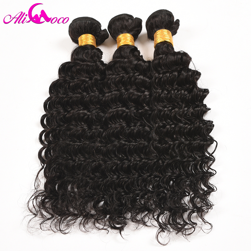 Ali Coco Hair Deep Wave Brazilian Hair Weave Bundles 1 Piece 100 Human Hair Weave 10