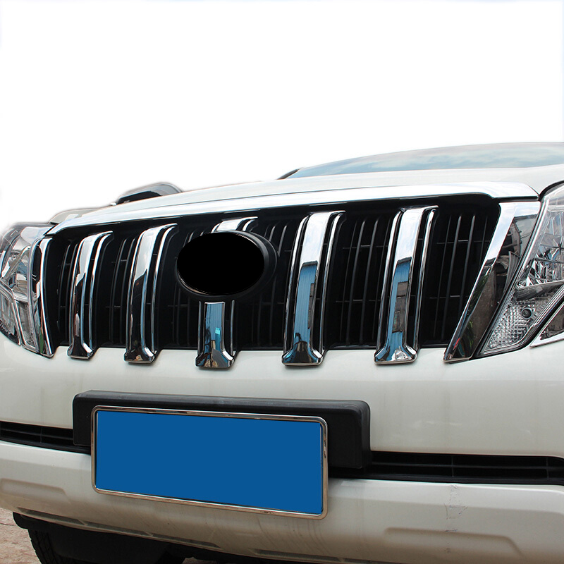 FOR <font><b>Toyota</b></font> <font><b>Prado</b></font> J150 GX GXL Land Cruiser 2014 2015 <font><b>2016</b></font> 2017 ABS Chrome Grille Grill Molding Around Cover Trim <font><b>accessories</b></font> 6pcs image