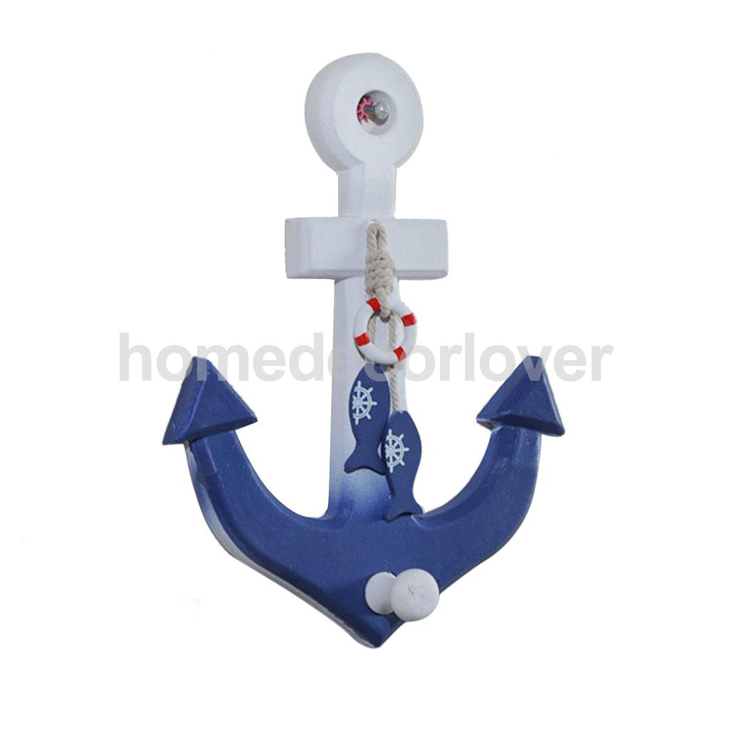 Us 4 93 19 Off Nautical Anchor Wall Hanging Hook Buoy Fish Decor Coat Hat Door Rack In Party Diy Decorations From Home Garden On Aliexpress Com