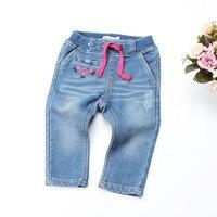 Baby broek 2018 Lente Zachte Leggings voor Meisjes broek denim Pasgeboren Bebe Broek Peuter bloemen Blauw pasgeboren Jeans