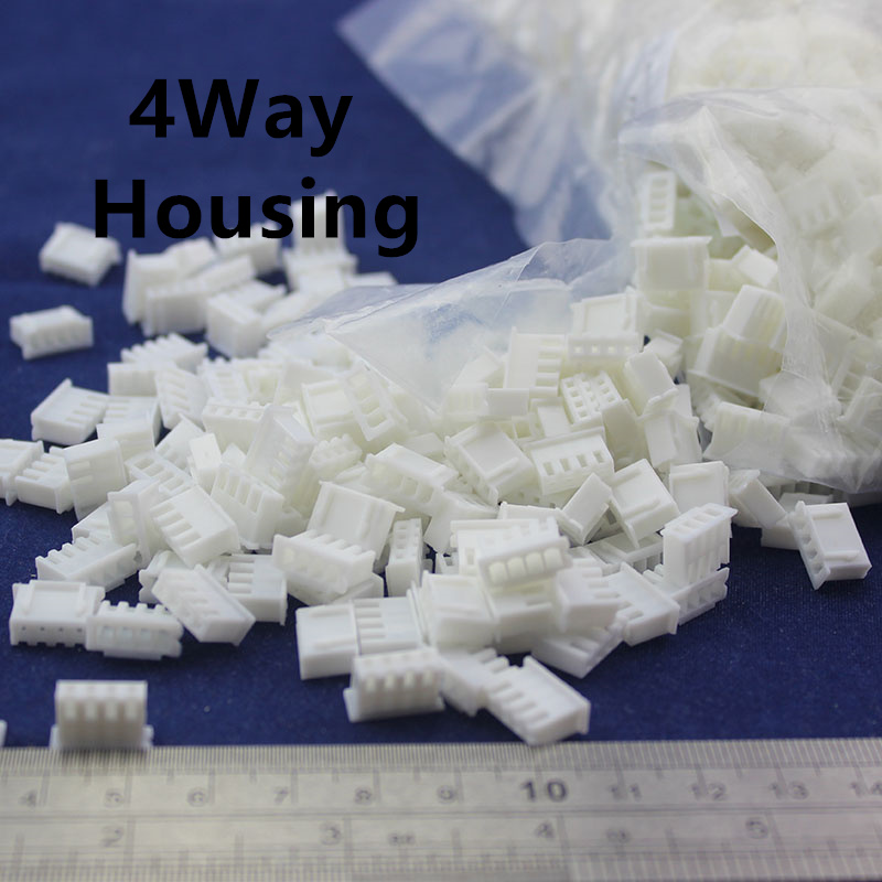 Free Shipping 100 pcs 4Way 2.54mm Pitch Terminal Housing Connector XH-4p