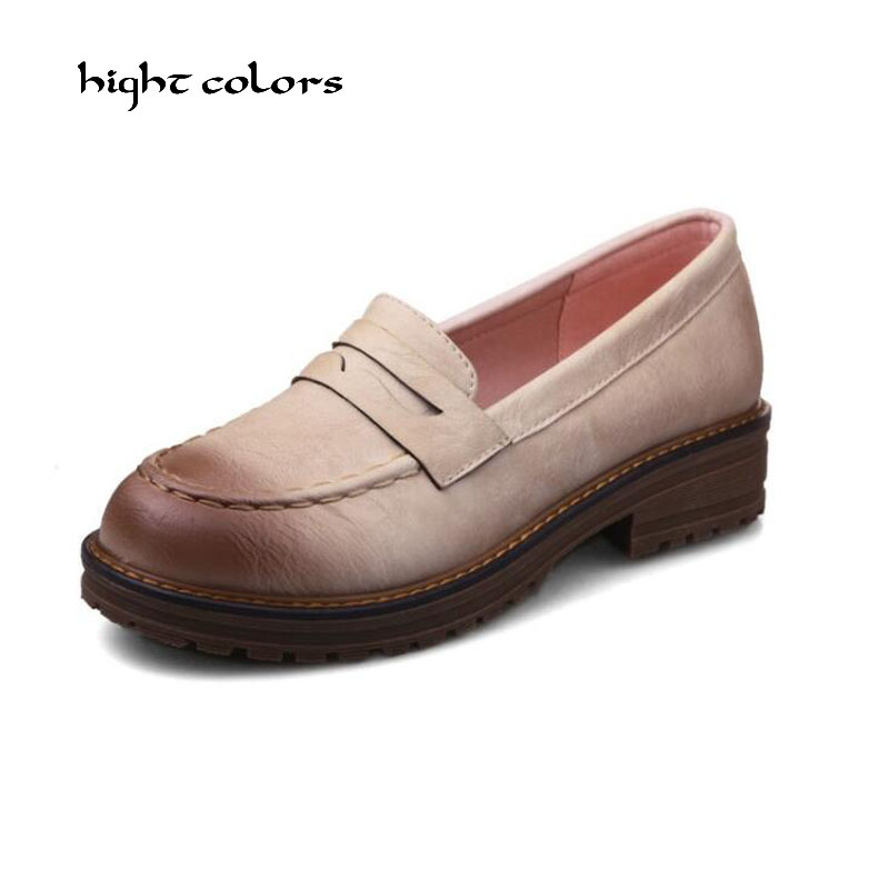 New Women Flat Platform Shoes Moccasins Mother Loafers Soft Leisure Flats Female Driving Casual Footwear Size 32-43 In 6 Colors 2017 new women genuine leather mother shoes moccasins women s soft leisure flats female driving shoe flat 10 colors w908