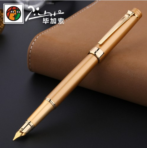 Image 5 - Pimio Picasso fountain pen picasso ps 917 gold clip silver Student teacher business Roman style gift box packaging FREE shipping-in Fountain Pens from Office & School Supplies
