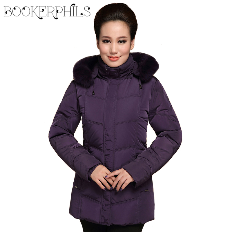 2017 Middle-aged Winter Women White Duck Down jacket Mother Parkas Plus Size High Quality Hooded Coat Female Outerwear 5XL 6XL high quality real fur female winter in the new middle aged down jacket women white duck down sundae feather thick coat l 5xl