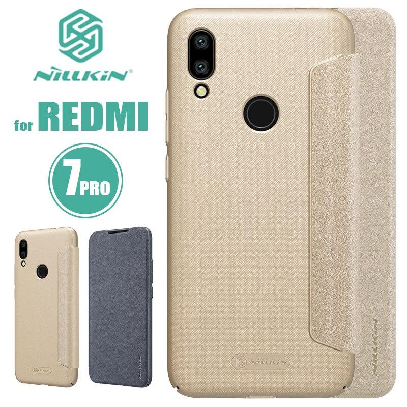 Xiaomi Redmi 7 6 Pro 6A Nilkin NILLKIN Faísca Couro Da Aleta de Luxo Tampa Traseira para Xiaomi Redmi 6A 5A 4A 7 6 Pro Caso Slim Telefone