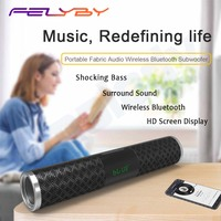 FELYBY Wireless Bluetooth Speaker Stereo Outdoor Strip Portable Strap Audio Display