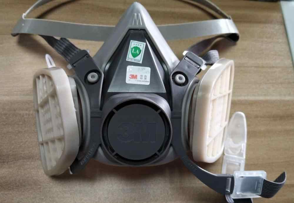 3in1 3 M 6200 نصف الوجه اللوحة الرش التنفس قناع واقي من الغاز سلامة العمل تصفية الغبار قناع