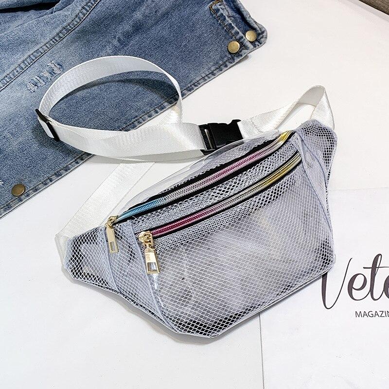 PVC Transparent Waist Bags Belt Shoulder Crossbody Fanny Packs Women Chest Handbags Sac A Dos Bolsas Feminina Mujer Sac A Main