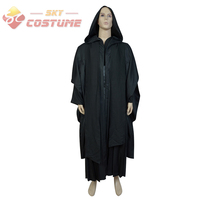 Star Wars Darth Maul Outfit Tunic Cape Robe Cloak Halloween Cosplay Costume Suit