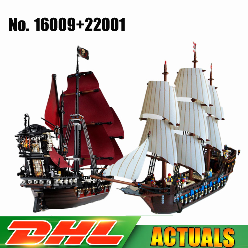LEPIN 16009 Queen Anne's revenge Pirates of the Caribbean +22001 Pirates Imperial Flagship Model Building Blocks Bricks Toys grivel ледоруб air tech racing sa с темляком long 53