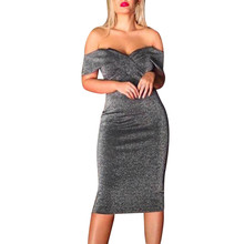 Fashion Sexy women dress Women Off The Shoulder Bodycon Cocktail Prom Gown Dress female