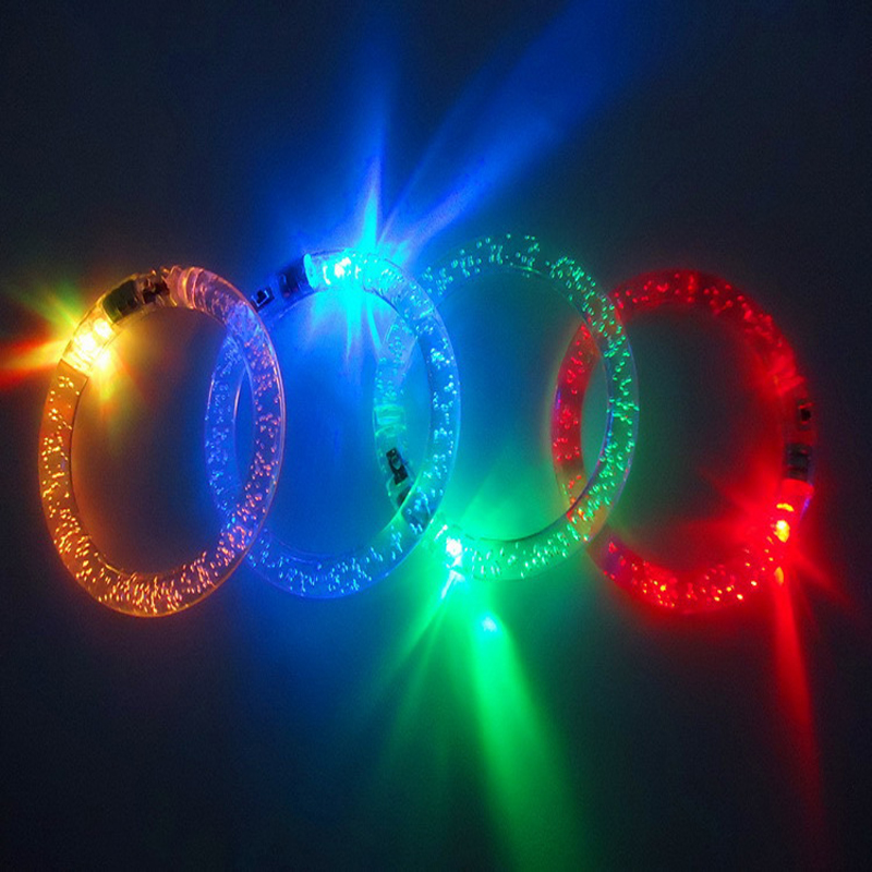 12pcs/Party Led Bracelet Colorful changing LED Ankle bracelet  Light up flashing acrylic glowing birthday Part