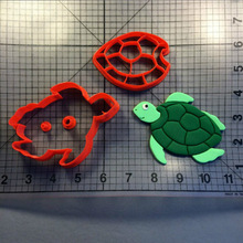 Sea Turtle And Series Made 3D Printed Fondant Cake Decorating Tooks Cookie Cutter Set
