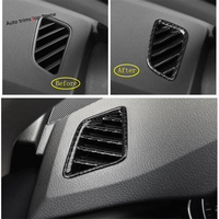 Yimaautotrims ABS Side Air Conditioning AC Outlet Vent Cover Trim For Audi A4 A5 B9 2017 2018 2019 Carbon Fiber Style