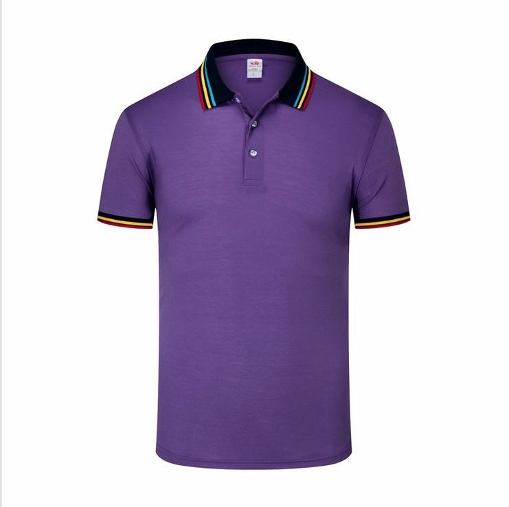 1408 Sommer Neue Herren Kurzarm Polos Shirts Casual Baumwolle Einfarbig Revers Polos Shirts Mode Herren Schlank Tops