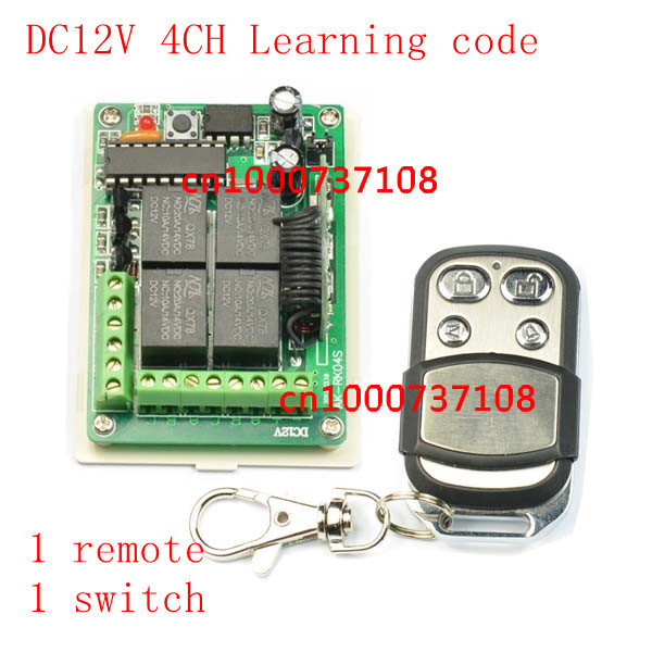 DC 12V 10A 4CH RF Wireless Remote Control Radio Controller/Switch 433M Transmitte&Receiver push button switch with learning code wireless pager system 433 92mhz wireless restaurant table buzzer with monitor and watch receiver 3 display 42 call button
