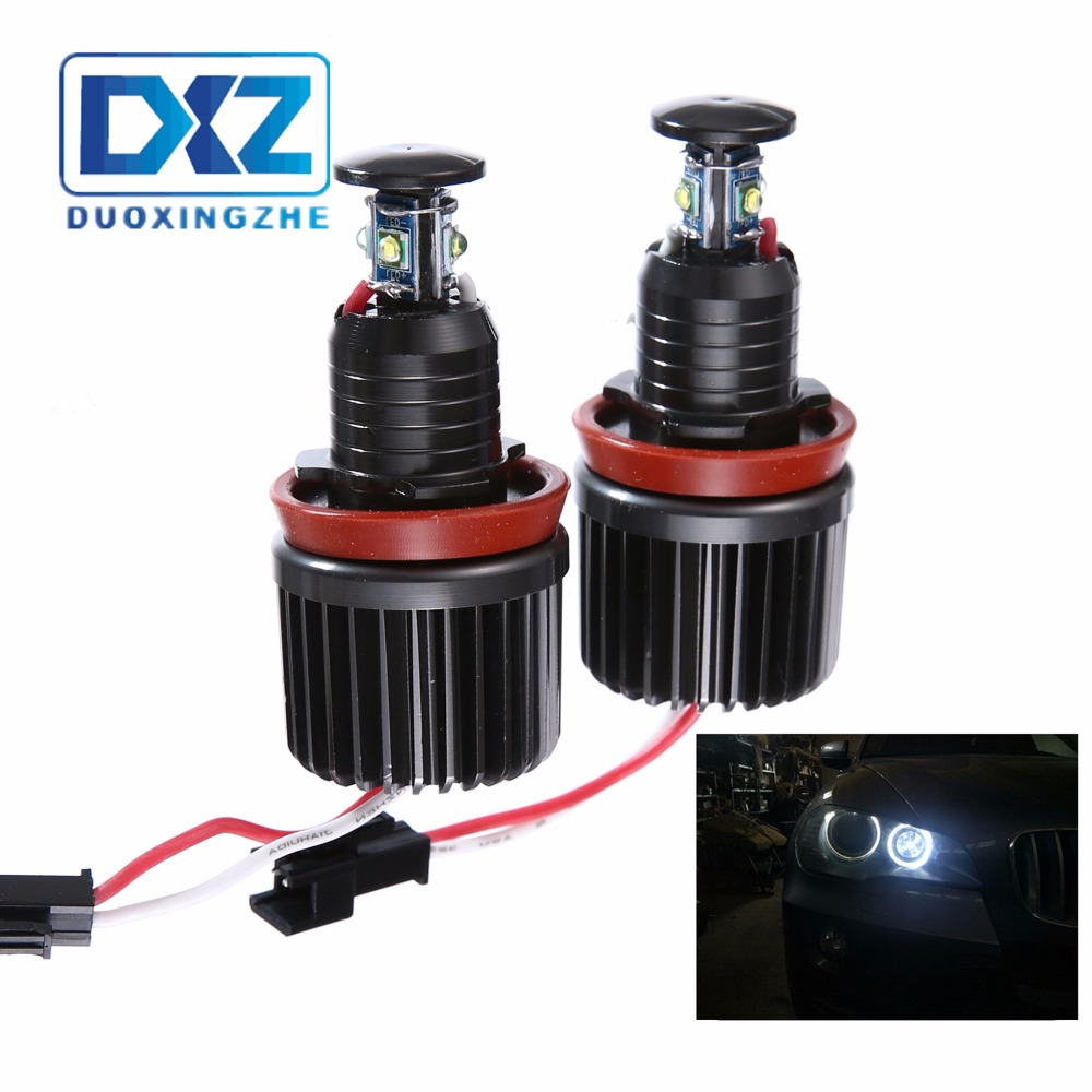 2x40W for BMW Angel Eyes Luz Cree Chips LED H8 BMW E60 E61 E63 E64 E70 X5 X6 E71 E82 E87 E89 E90 E91 E92 M3 Z4