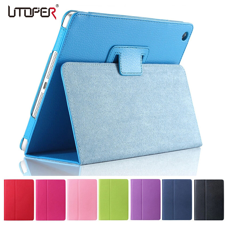 все цены на  For Apple ipad Air 2 Case Air2 II Flip Litchi PU Leather Wake Up /Sleep Cover For New ipad 6 Air 2nd with Smart Stand Holder  онлайн