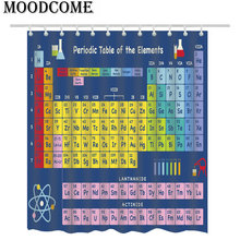 Periodic Table of the Elements Shower Curtain Blue Bathroom Colorful Bath