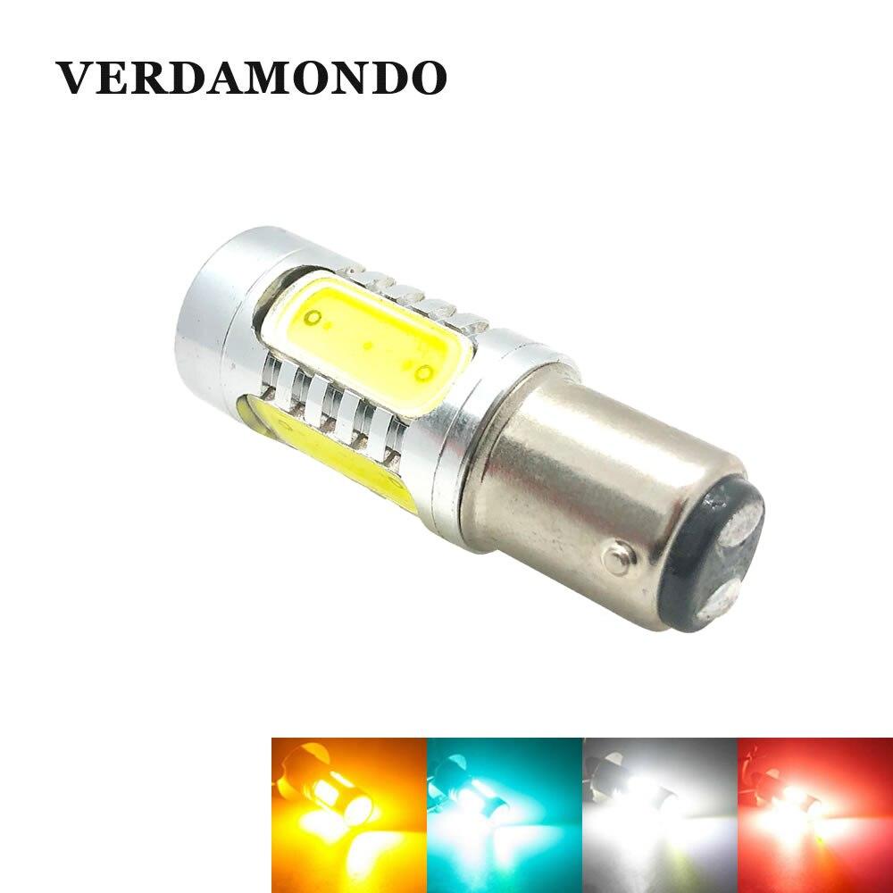 1157 COB BA15D 7.5W High Power S25 P21/5W Car LED Lamp 12V Light Tail Brake Fog Turn Signal Bulbs White Yellow Red Iceblue
