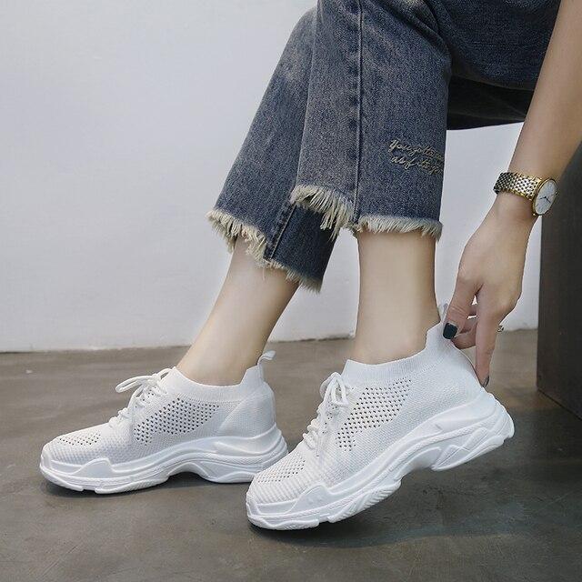 1c2b44c91 Shoes Women Elegant Confident Sneaker Summer European Ulzzang Harajuku Mesh  Face Versatile Breathable Shoes Mesh Shoes