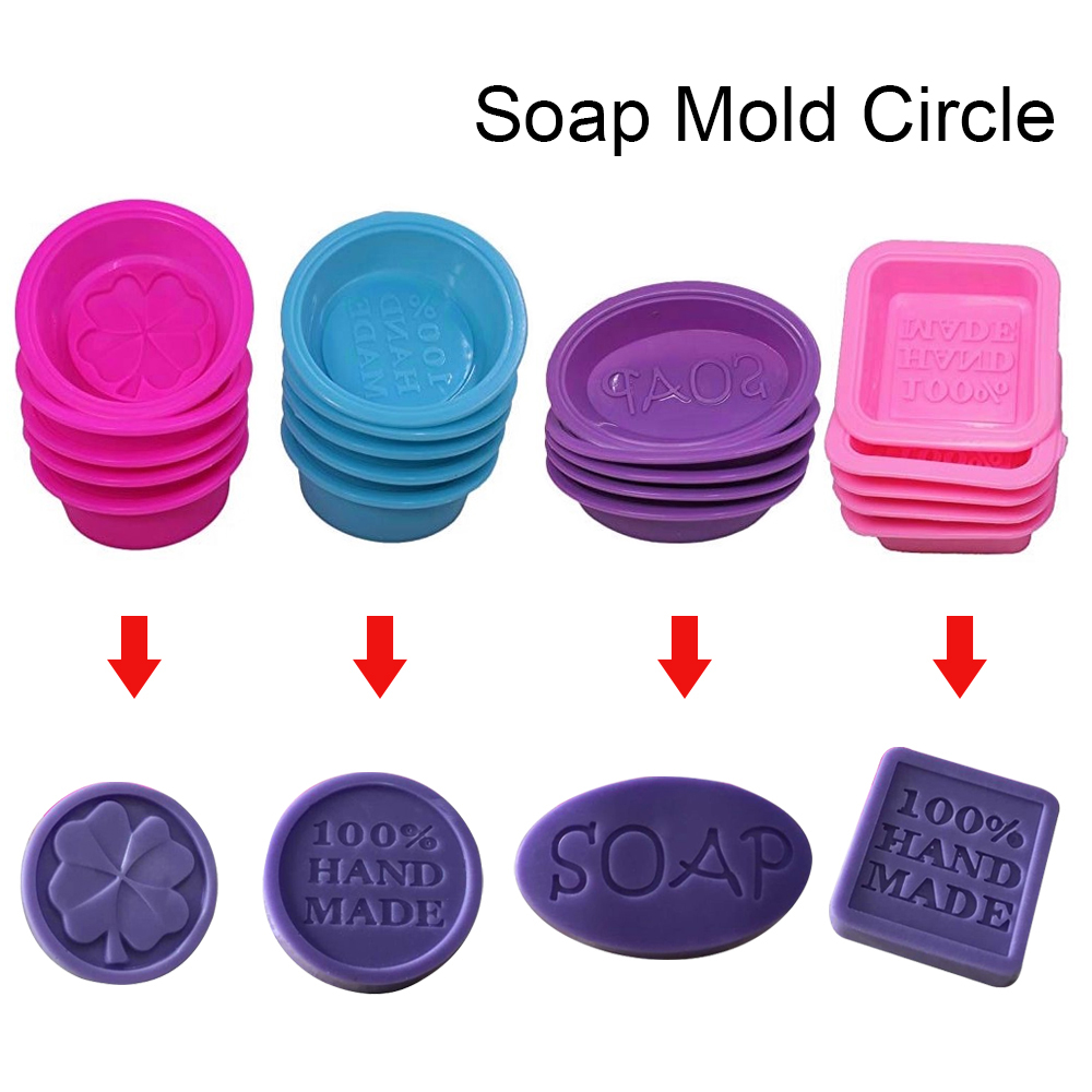 Dozzlor 1PC Multifunctional Soap Molds For Soap Making Silicone Soap Mold Circle Cupcake Baking Pan Molds Making Supplies