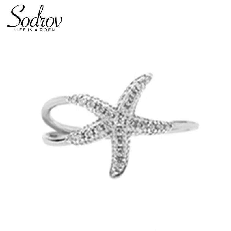 SODROV genuine 925 sterling silver open party gift ring for women fine silver 925 jewelry anillos HR051 PersonalizedSODROV genuine 925 sterling silver open party gift ring for women fine silver 925 jewelry anillos HR051 Personalized