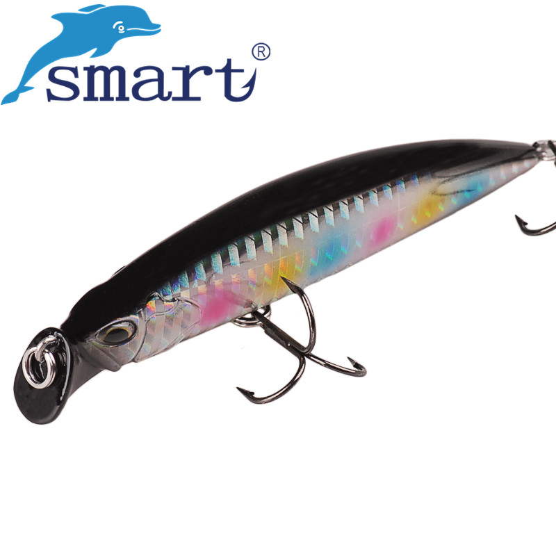 SMART Minnow Bait 95mm 30g VMC Hook Sinking Fishing Lure Hard Baits Isca Artificial Para Pesca Leurre Souple Peche Kunstaas  smart minnow bait 65mm5 1g vmc hooks floating 1 0m fishing lure baits isca artificial para pesca leurre souple peche kunstaas