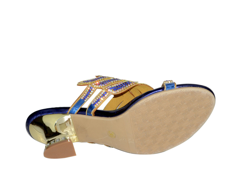 Talons Marque Femmes Banquet 03 Mujer Zapatos Ouvert Sabot Toe Slip Sandales 01 Strass Luxe Robes De Chaussures 02 04 Soirée sur Mode rOrqg