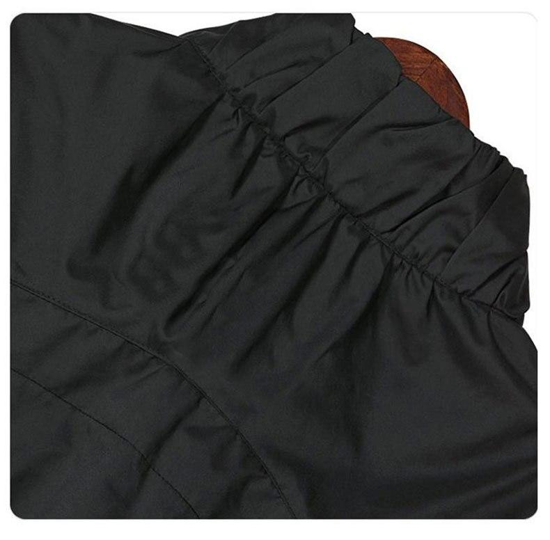 Impermeabili Nero E Formato Lunghe Lungo Basamento A Del Autunno Donne Cappotto Di Tuta Maniche Più Il Sportiva Trench Medio Femminile Base Collare Vento Giacca CIwgtq