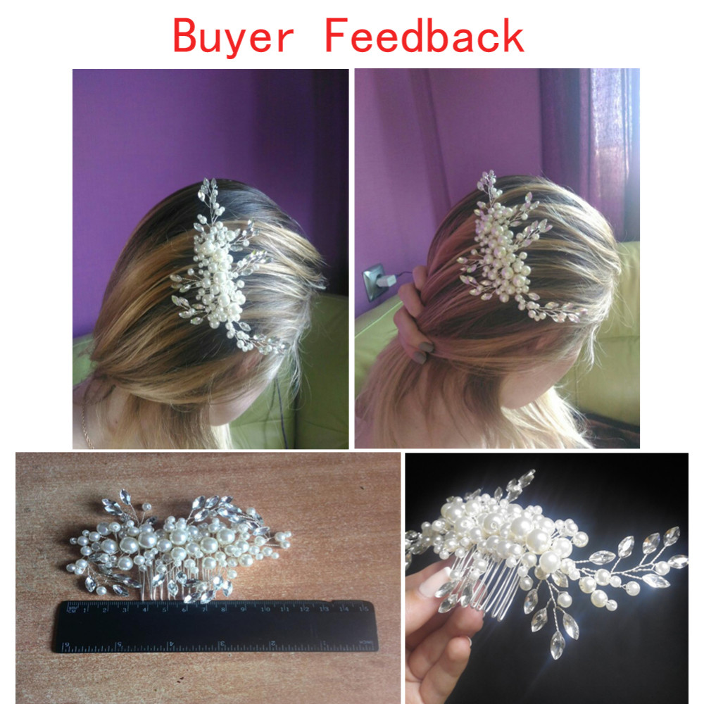 HTB1uANQKXXXXXcPXXXXq6xXFXXX4 Romantic Flower Bouquet Rhinestone Crystal Pearl Hair Jewelry For Wedding/Prom/Party